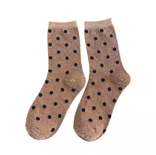 Spots Shimmer Ankle Socks - 3 Colours