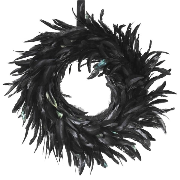 Feather Wreath - Brown or Black
