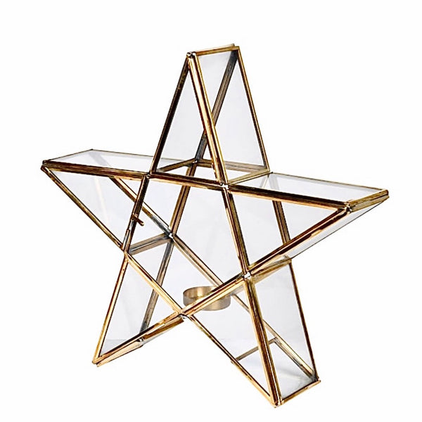 Brass Star Candle Holder
