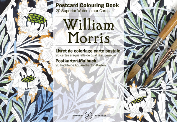 Postcard Colouring Book - William Morris / Vincent Van Gogh