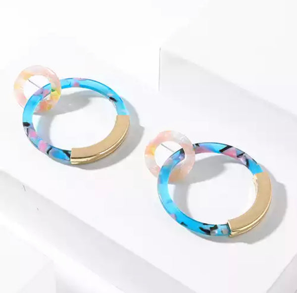 Amelie Double Hoops Earrings - 3 Options