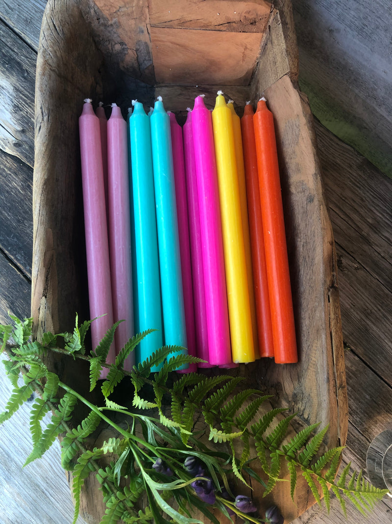 Coloured Dining Candles