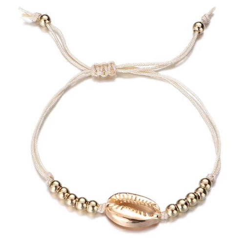 Silver or Gold Cowry Shell Bracelet