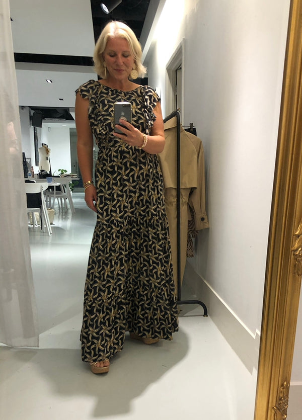 Scotch & Soda Maxi Dress (Starfish Print)