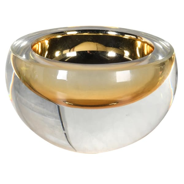 Heavy Crystal Gold Tea Light