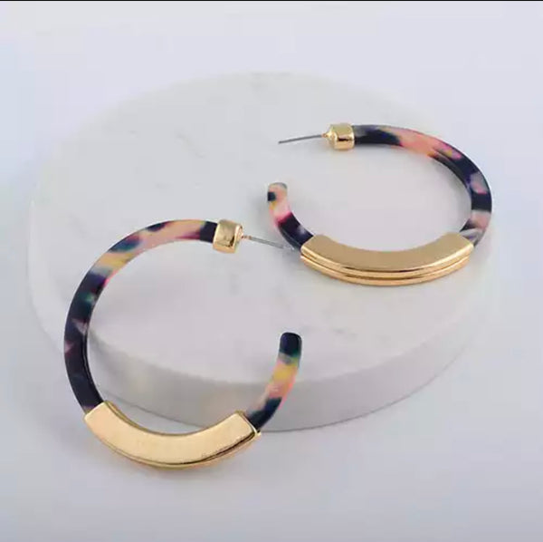 Colour Hoops 5 Options - Outfit Staple