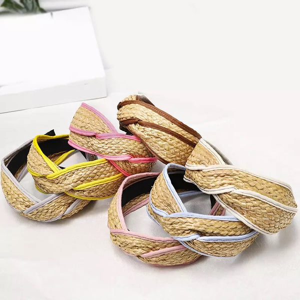 Straw Weave Hairband with Multiple Colour Ways