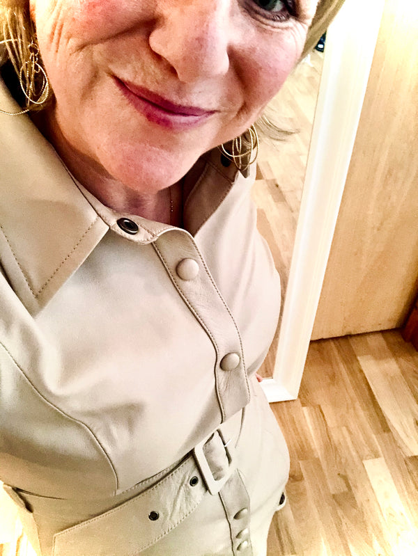 LEVETE ROOM - LEATHER SHIRT DRESS