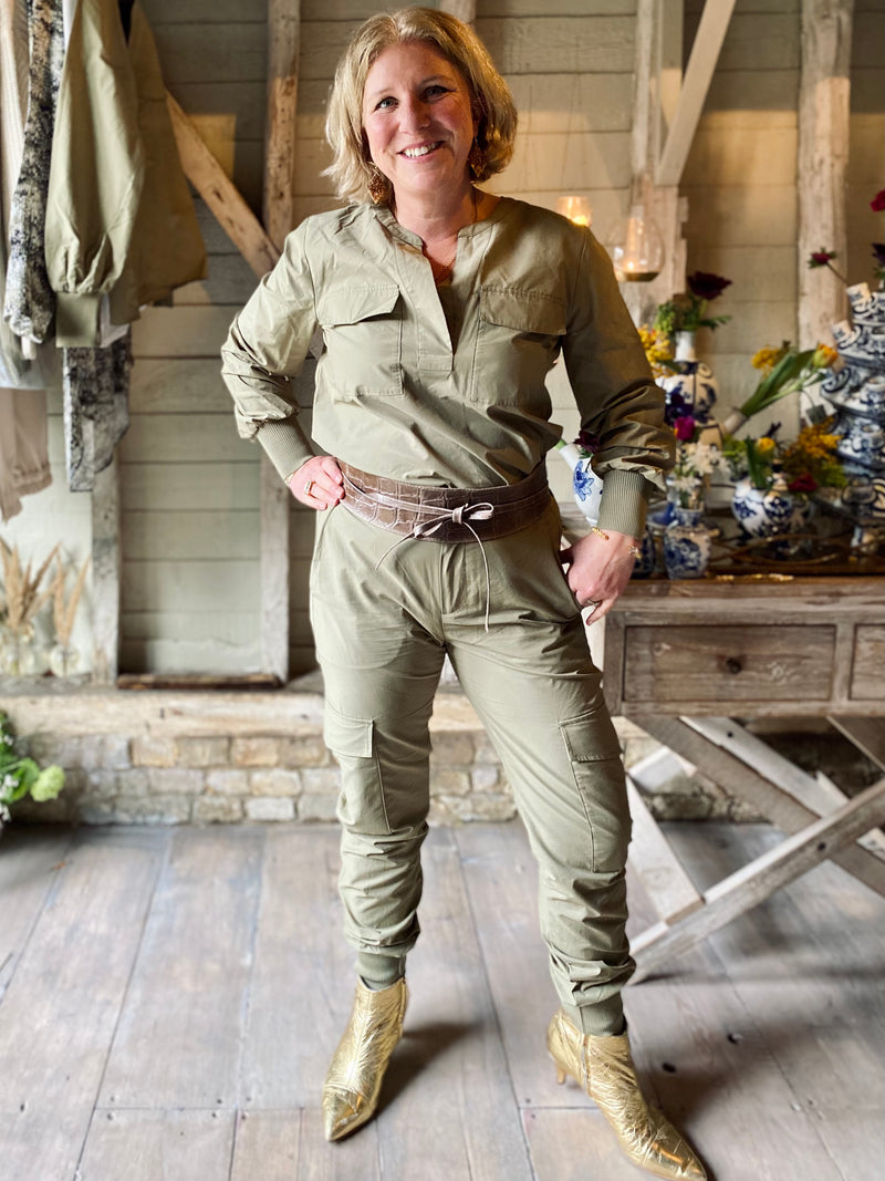 Levete Room Marilyn Khaki Utility Top