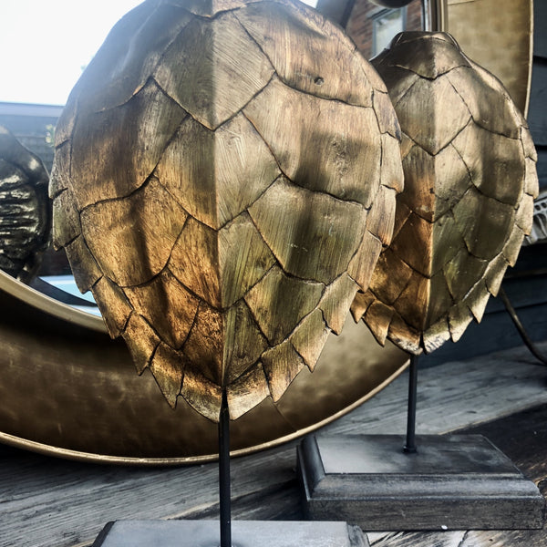 Faux Turtle Shell (Gold), on stand