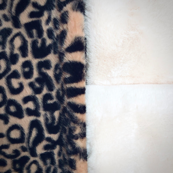 Double Layer LEOPARD - Long - SUPER SOFT - Faux Fur