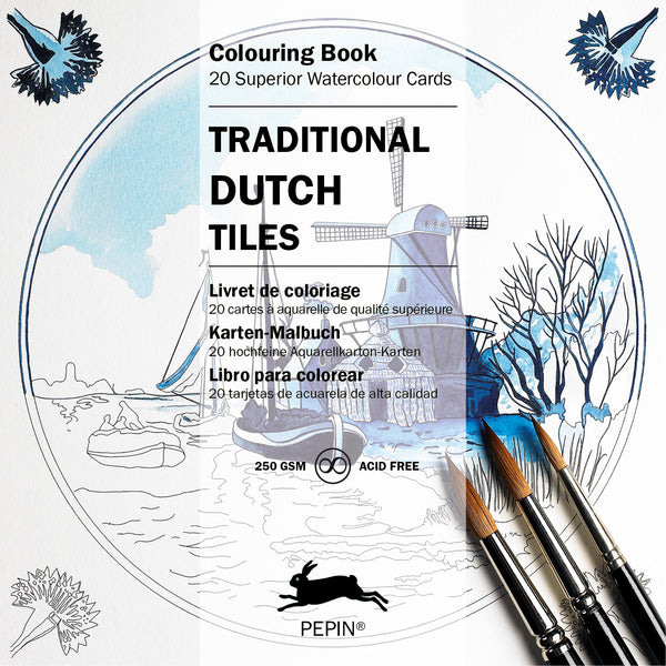 Traditional Dutch Tiles - Colouring Book