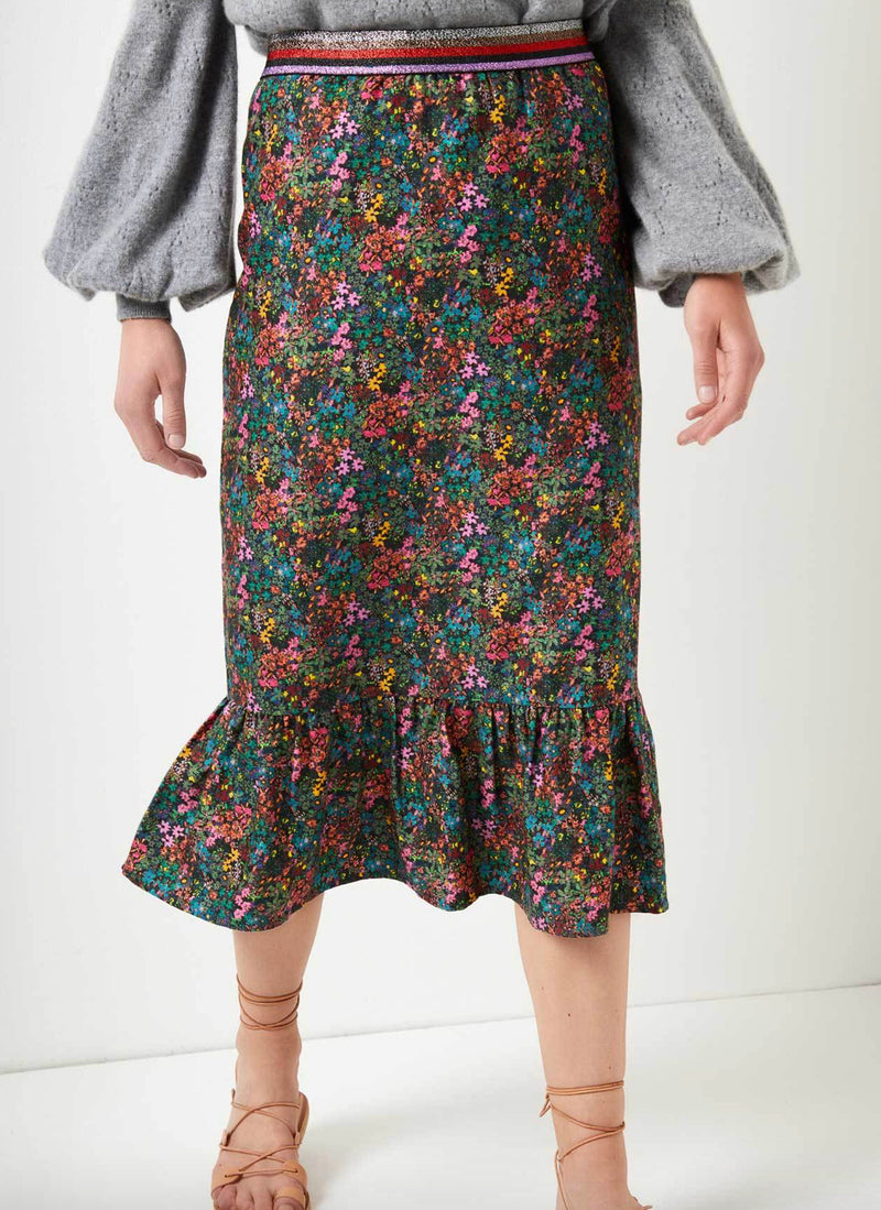 Floral WYSE Skirt - (Silk/Cotton)