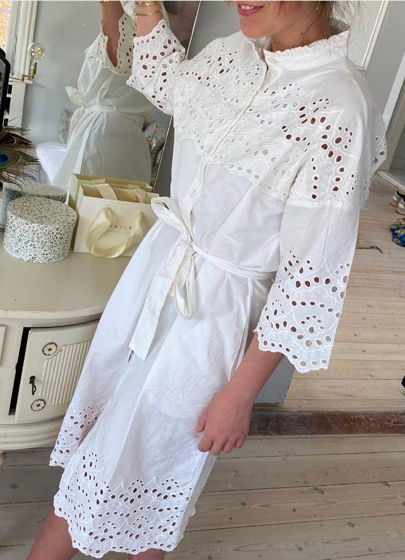 Lollys Laundry Cotton Shirt Dress - Off White or Army