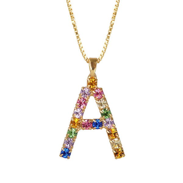Caroline Svedbom Swarovski Rainbow Crystals Necklace