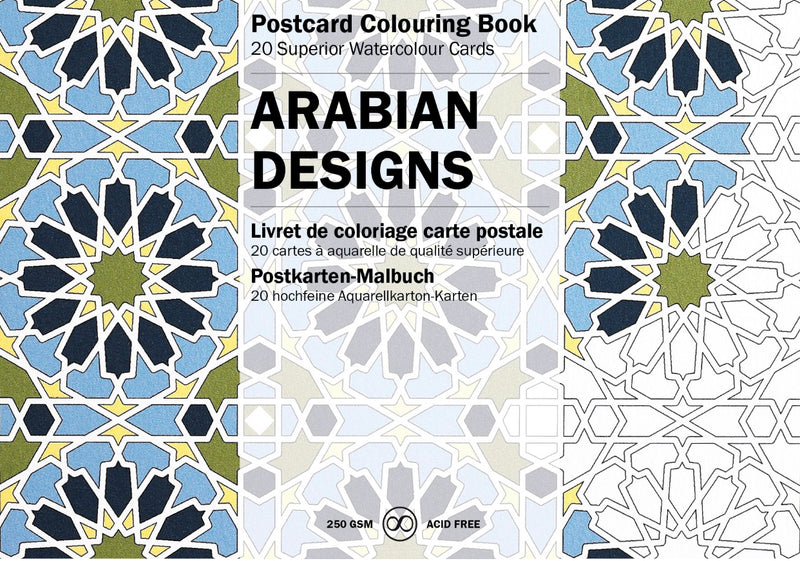 Postcard Colouring Book - Arabian Designs / Indian Designs