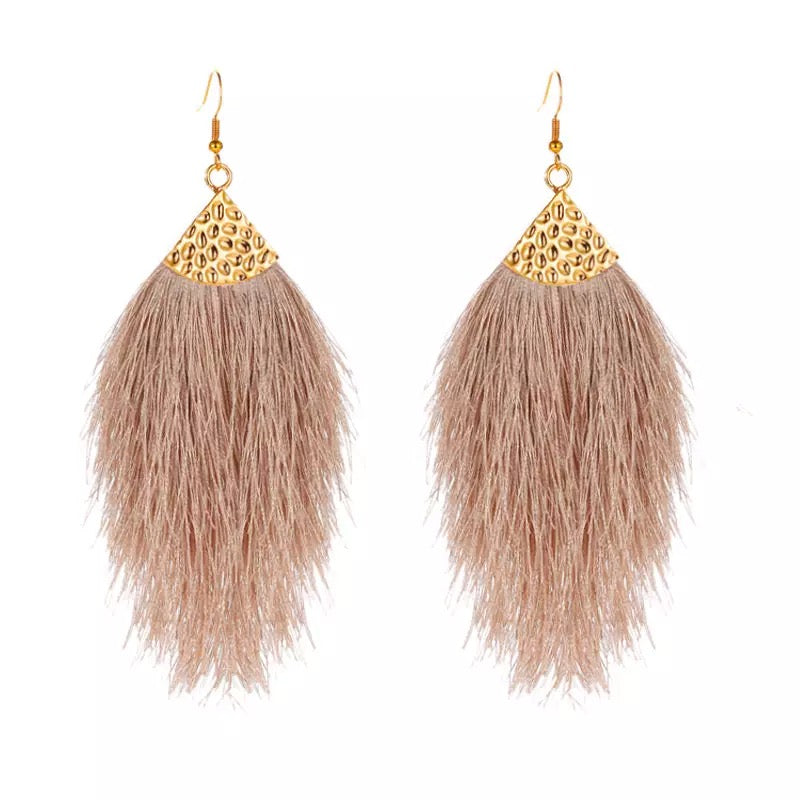 Statement Silk Threads Earrings