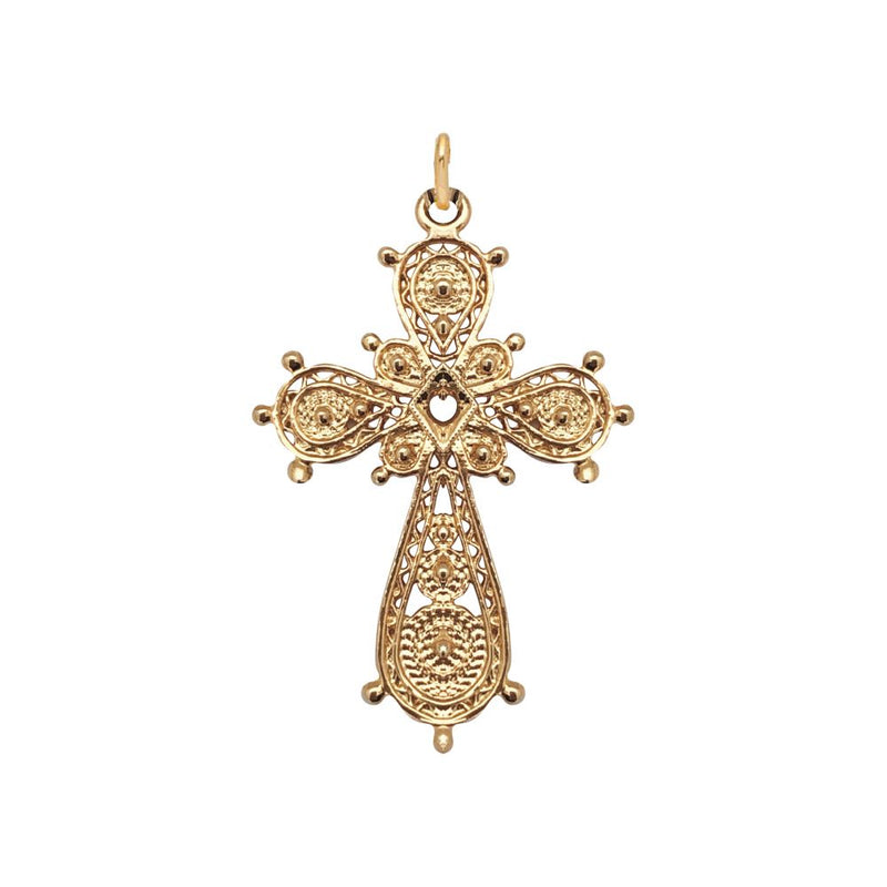 Marta Cross - Filigree Gold on Brass by Mirabelle
