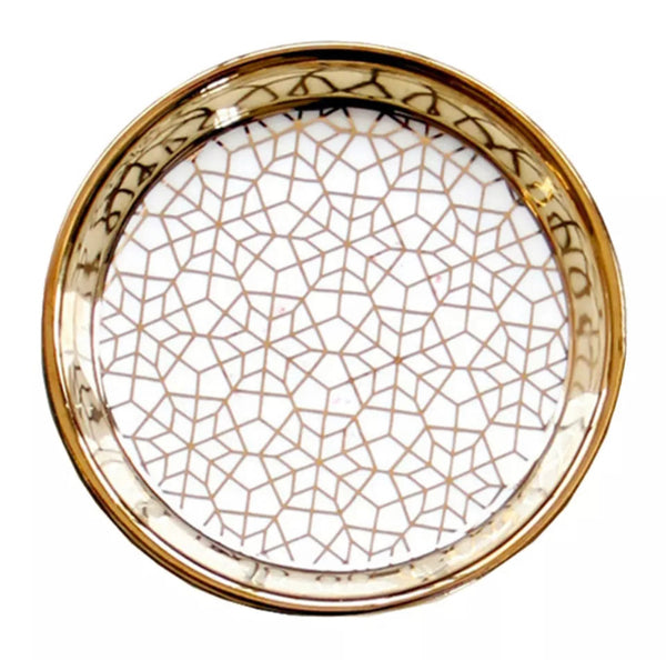 Kaleidoscope Pattern ROUND China Dish