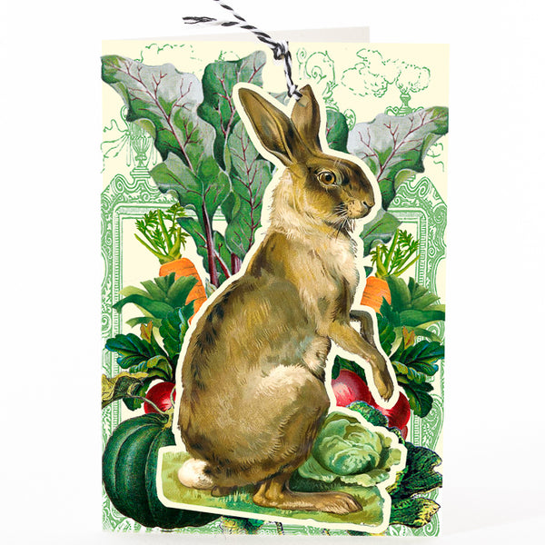 Articulated Rabbit in the Vegetable Patch Card