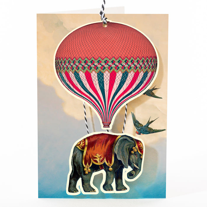 Articulated Balloon and Elephant Card