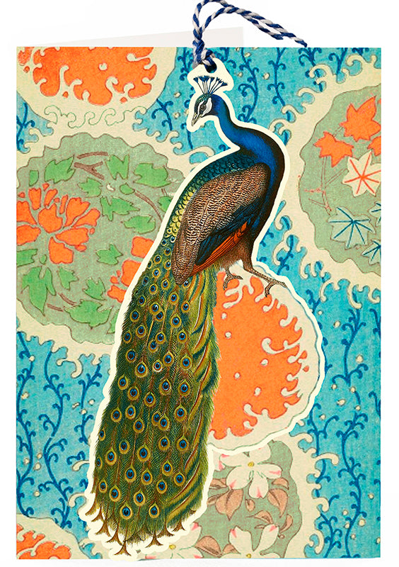 Articulated Peacock Card