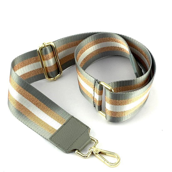 Grey and Bronze Striped Strap