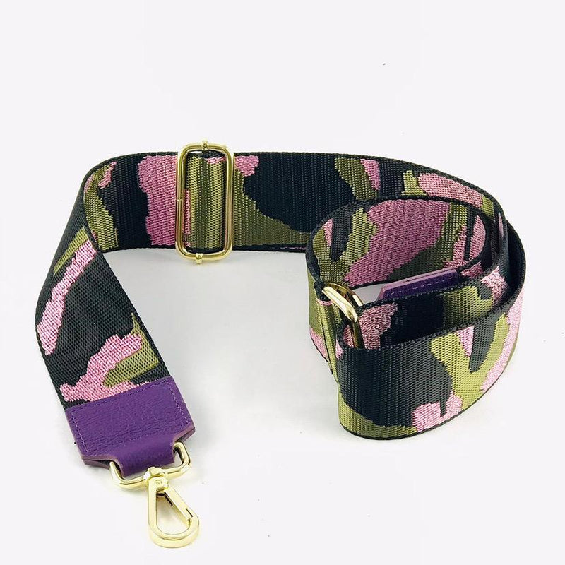 Camo Strap with Purple Leather