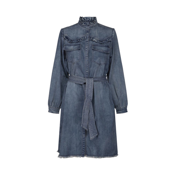 SOFIE SCHNOOR Denim Shirt Dress