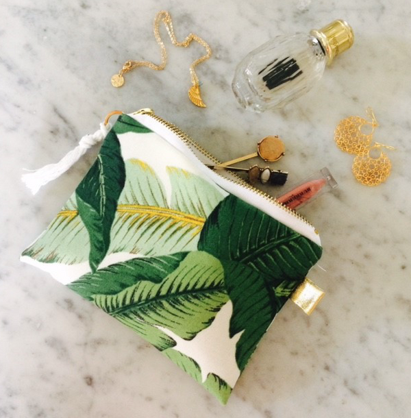 Tropical Palm Print Pouch