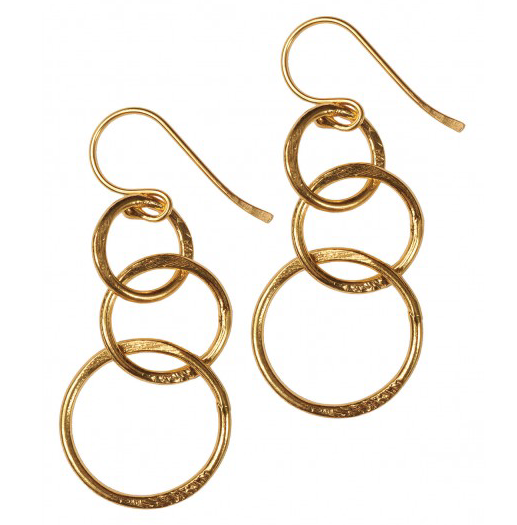 Hoops Drop Earrings - by Mirabelle
