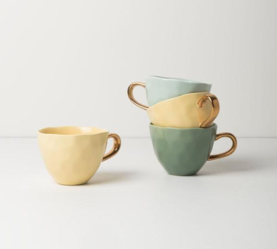 Cupping Hand Pastel Mugs, Stackable