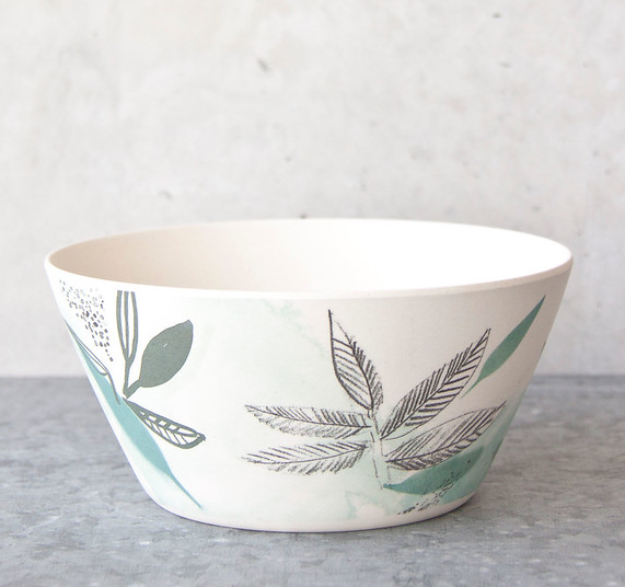 Bamboo Bowl - Meadow Field Pattern