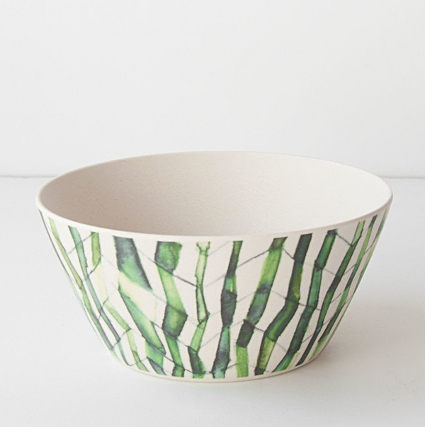 Bamboo Bowl - Grass Stem Pattern