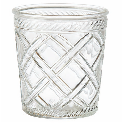 Trellis pattern glass pot vase, perfect for summer party decoration.