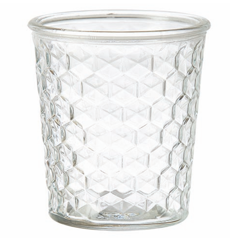 Glass Plant Pot Vase - Various Style Mouldings