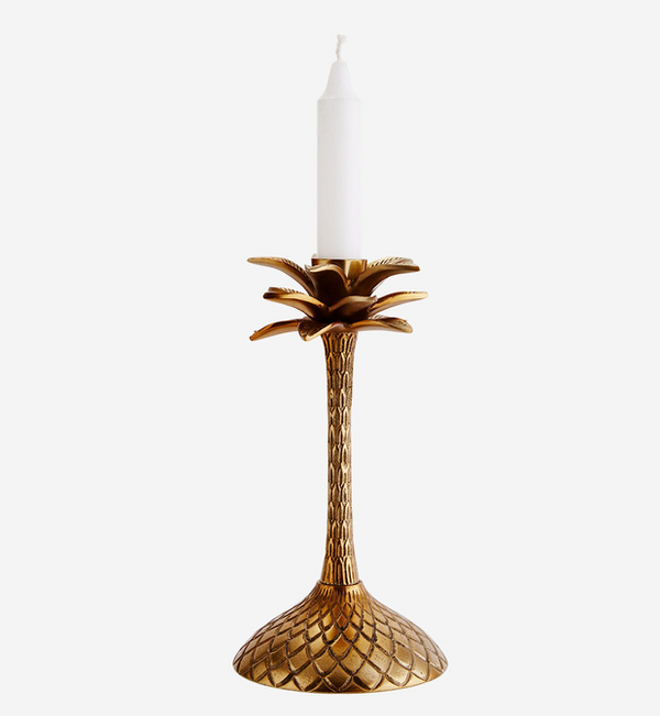 Brass Palm Tree Candlestick, (Tall)