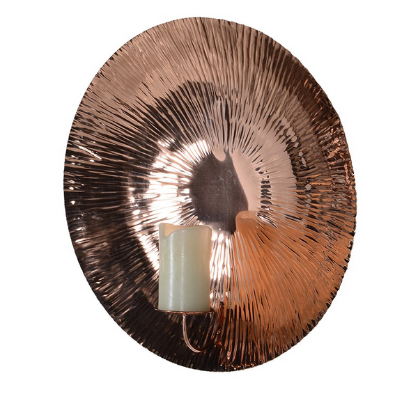 Shiny Copper Wall Sconce
