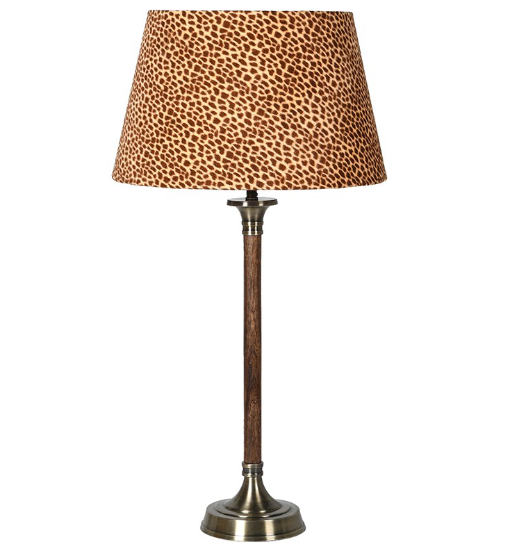 Leopard Shade Classic Lamp