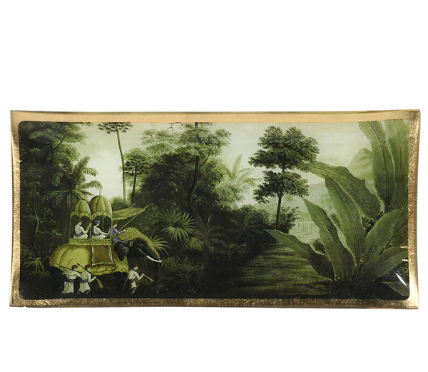 Vintage Jungle Scene Trinket Tray