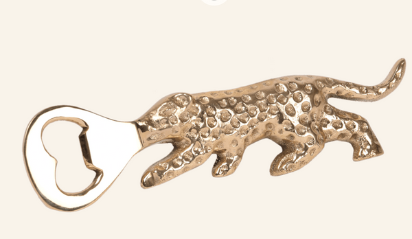 Brass Leopard Bottle Opener