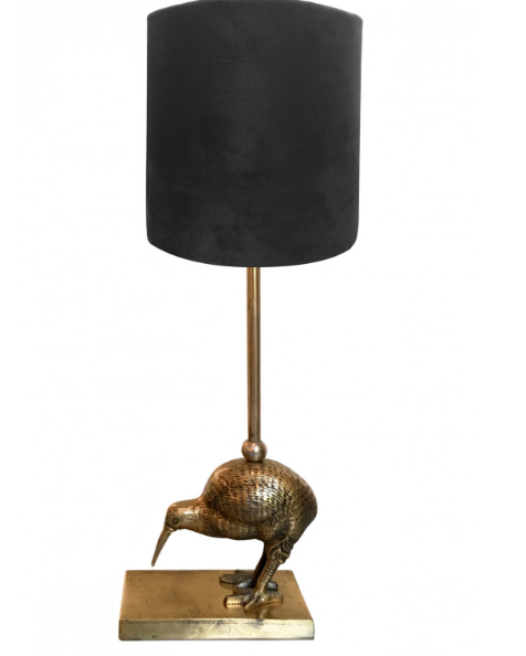 Kiwi Bird Lamp with Black Shade