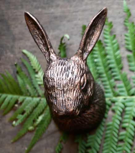 Large Bronze Hook - Rabbit or Elephant