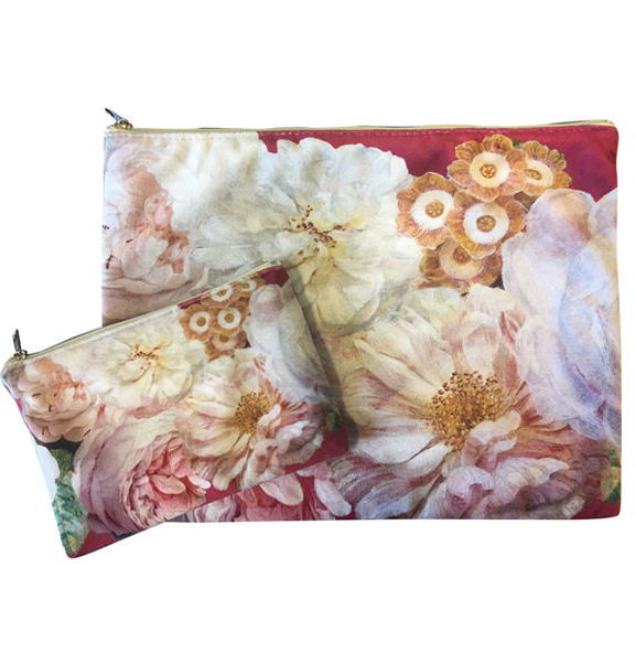 Velvet Botanical/Jungle Purse and Pouch Set