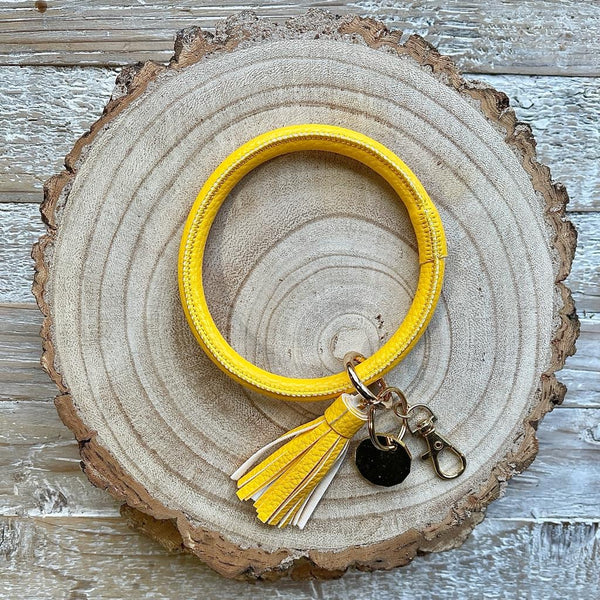 Wrist Ring - Key Ring with Trolley Token - 6 COLOURS