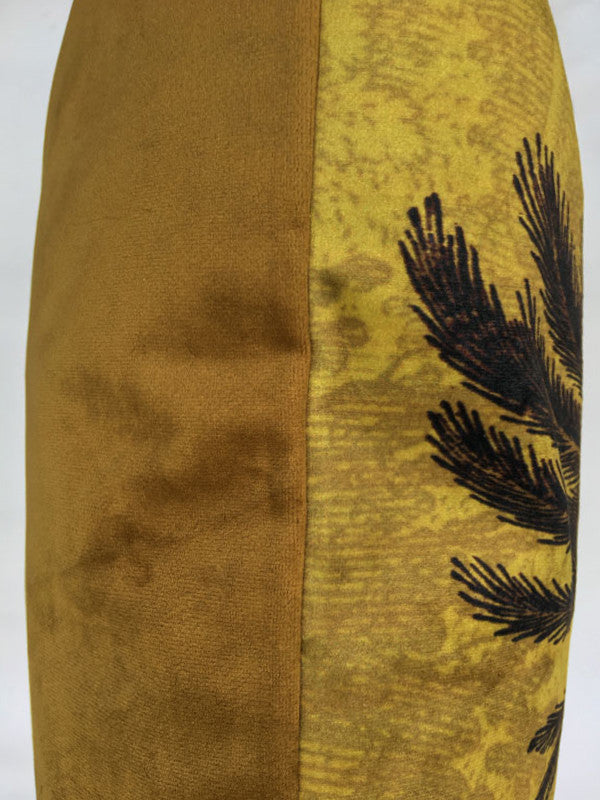 Golden Palm Tree - Velvet Cushion 50 x 50
