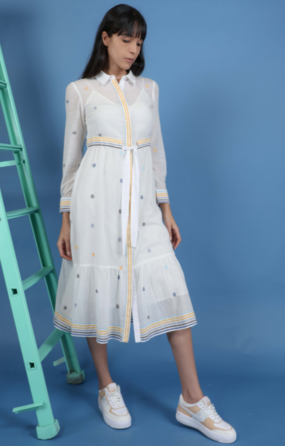 Conditions Apply Michaela Collar Shirt Dress