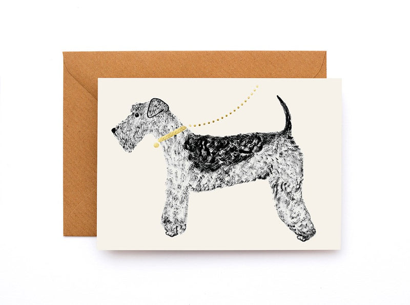 Airdale Terrier Card