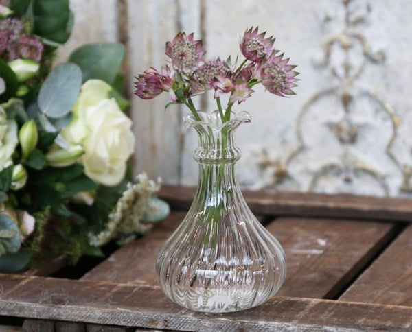 Glass Shaped Bud Vase - MEDIUM