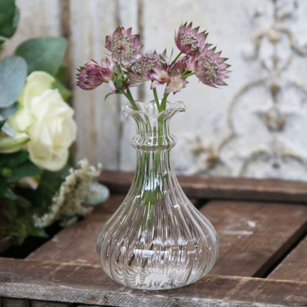 Glass Shaped Bud Vases - INDIVIDUAL SIZE OPTIONS